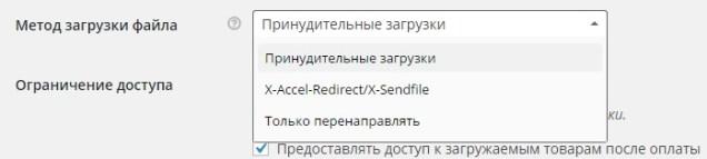 Руководство по WooCommerce для начинающих: Настройки товаров - Часть 2 - nastrojka metoda zagruzki fajla