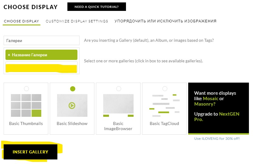 Плагин галереи для WordPress — NextGEN Gallery - dobavlenie galerei foto na stranicu nextgen gallery