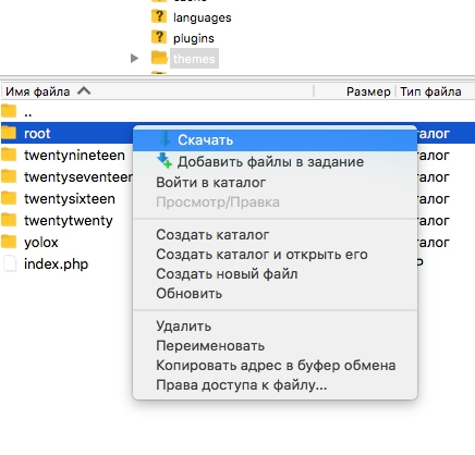 Как исправить белый экран в WordPress - skachat temu na svoi kompjuter po ftp 1