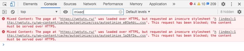 Как перевести WordPress сайт на HTTPS (SSL) - mixed content css js v wordpress